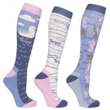 TOGGI PACK OF 3 DORIS HERITAGE BLUE   SOCKS - RRP £17.00